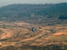 Paesaggio ferroviario dalla Romania Fotografia Stock
