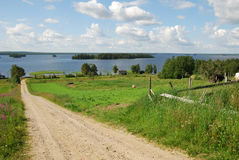 Paesaggio finlandese del paese Fotografia Stock Libera da Diritti