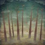Paesaggio, foresta di autunno illustrazione vettoriale