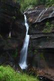 Paesaggio in foresta pluviale tropicale, tempo di otturazione lento della cascata Fotografia Stock