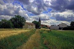 Paesaggio francese del villaggio Fotografie Stock Libere da Diritti