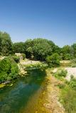 Paesaggio in francese Minervois Fotografie Stock Libere da Diritti