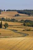 Paesaggio francese nella fine dell'estate Immagine Stock Libera da Diritti