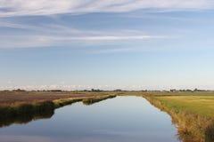 Paesaggio in Frisia orientale fotografie stock libere da diritti