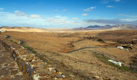 Paesaggio a Fuerteventura Fotografia Stock