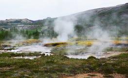 Paesaggio geotermico in Islanda Immagine Stock