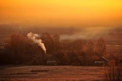 Paesaggio giallo di autunno fotografia stock libera da diritti