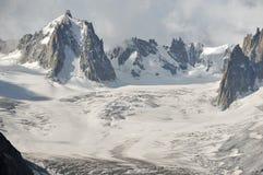 Paesaggio glaciale Fotografia Stock