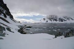 Paesaggio glaciale antartico Fotografia Stock