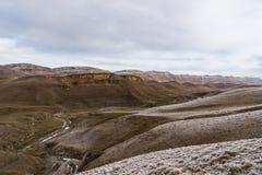 Paesaggio glassato della montagna fotografie stock