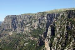 Paesaggio Grecia della gola di Vikos Fotografia Stock