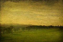 Paesaggio grungy dell'annata fatto da fotographia illustrazione di stock