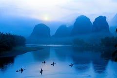 Paesaggio a Guilin, Cina Fotografia Stock Libera da Diritti
