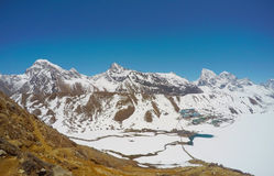 Paesaggio himalayano, vicino a Everest Fotografie Stock