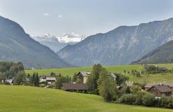 Paesaggio idilliaco delle alpi in Austria Fotografie Stock