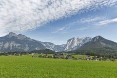 Paesaggio idilliaco delle alpi in Austria Fotografia Stock Libera da Diritti
