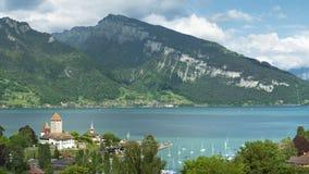 Paesaggio idilliaco dello svizzero Immagine Stock