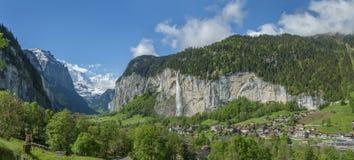 Paesaggio idilliaco dello svizzero Fotografia Stock