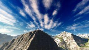 Paesaggio idilliaco di estate nella rappresentazione delle alpi 3d Fotografia Stock Libera da Diritti