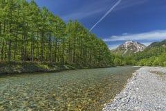 Paesaggio idilliaco di Kamikochi, Nagano, Giappone Fotografie Stock Libere da Diritti