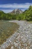 Paesaggio idilliaco di Kamikochi, Nagano, Giappone Fotografie Stock