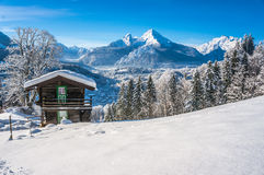 Paesaggio idilliaco nelle alpi bavaresi, Berchtesgaden, Germania Fotografie Stock