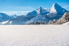 Paesaggio idilliaco nelle alpi bavaresi, Berchtesgaden, Germania Immagine Stock