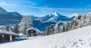 Paesaggio idilliaco nelle alpi bavaresi, Berchtesgaden, Germania Fotografia Stock