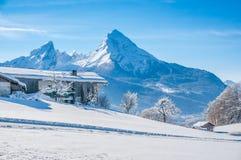 Paesaggio idilliaco nelle alpi bavaresi, Berchtesgaden, Germania Fotografia Stock Libera da Diritti