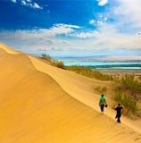 Paesaggio il Kazakistan della duna Fotografie Stock