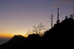 Paesaggio illuminato della montagna Immagine Stock Libera da Diritti