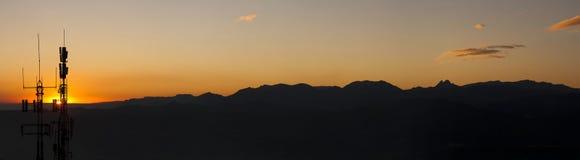 Paesaggio illuminato della montagna Fotografia Stock Libera da Diritti