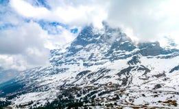 Paesaggio incredibile in alpi svizzere Fotografia Stock