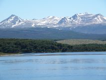 Paesaggio incredibile di Usuahia Argentina fotografie stock