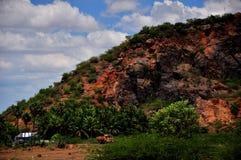 Paesaggio indiano del sud del villaggio fotografie stock libere da diritti