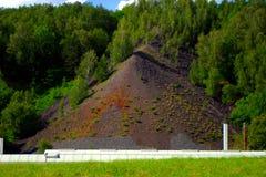 Paesaggio industriale di estrazione mineraria in Germania fotografia stock