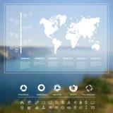 Paesaggio infographic royalty illustrazione gratis