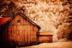 Paesaggio infrarosso di 590 nanometro Fotografia Stock