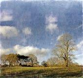 Paesaggio inglese illustrazione vettoriale