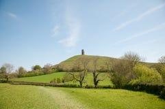 Paesaggio inglese di glastonbury Fotografia Stock