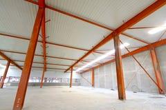 Paesaggio interno della pianta del fabbricato industriale Immagine Stock