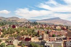 Paesaggio intorno al EL-Ouidane del recipiente della diga Immagine Stock Libera da Diritti
