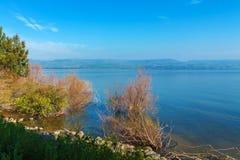 Paesaggio intorno al lago marino galilee Kinneret Fotografia Stock Libera da Diritti