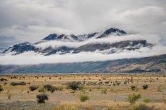 Paesaggio intorno al Mt Parco nazionale Aoraki/del cuoco, Nuova Zelanda Immagine Stock Libera da Diritti