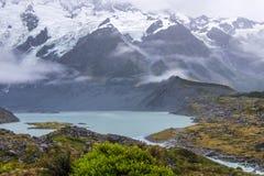 Paesaggio intorno al Mt Parco nazionale Aoraki/del cuoco, Nuova Zelanda Fotografia Stock