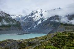 Paesaggio intorno al Mt Parco nazionale Aoraki/del cuoco, Nuova Zelanda Fotografie Stock Libere da Diritti