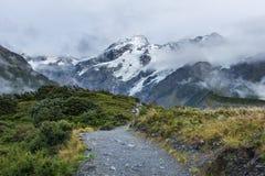 Paesaggio intorno al Mt Parco nazionale Aoraki/del cuoco, Nuova Zelanda Fotografia Stock Libera da Diritti