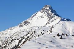 Paesaggio invernale in alpi, austriache Immagini Stock
