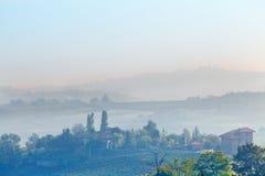 Paesaggio invernale italiano. Fotografie Stock