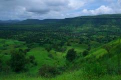 Paesaggio-Io esotico del villaggio di Satara Immagine Stock Libera da Diritti